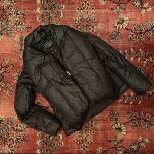 All Saints Wilkin Puffer Coat Black Size US6